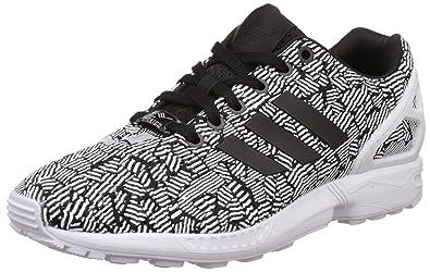 best sneakers aa454 6c6aa adidas Originals ZX Flux Damen Sneaker, Schwarz (CblackCblackFtwwht),