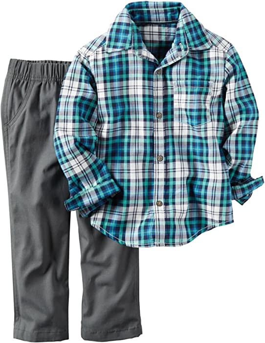 a8eb5837a Carter's Baby Boys' 2 Pc Playwear Sets 229g255, Green/Blue Plaid, ...