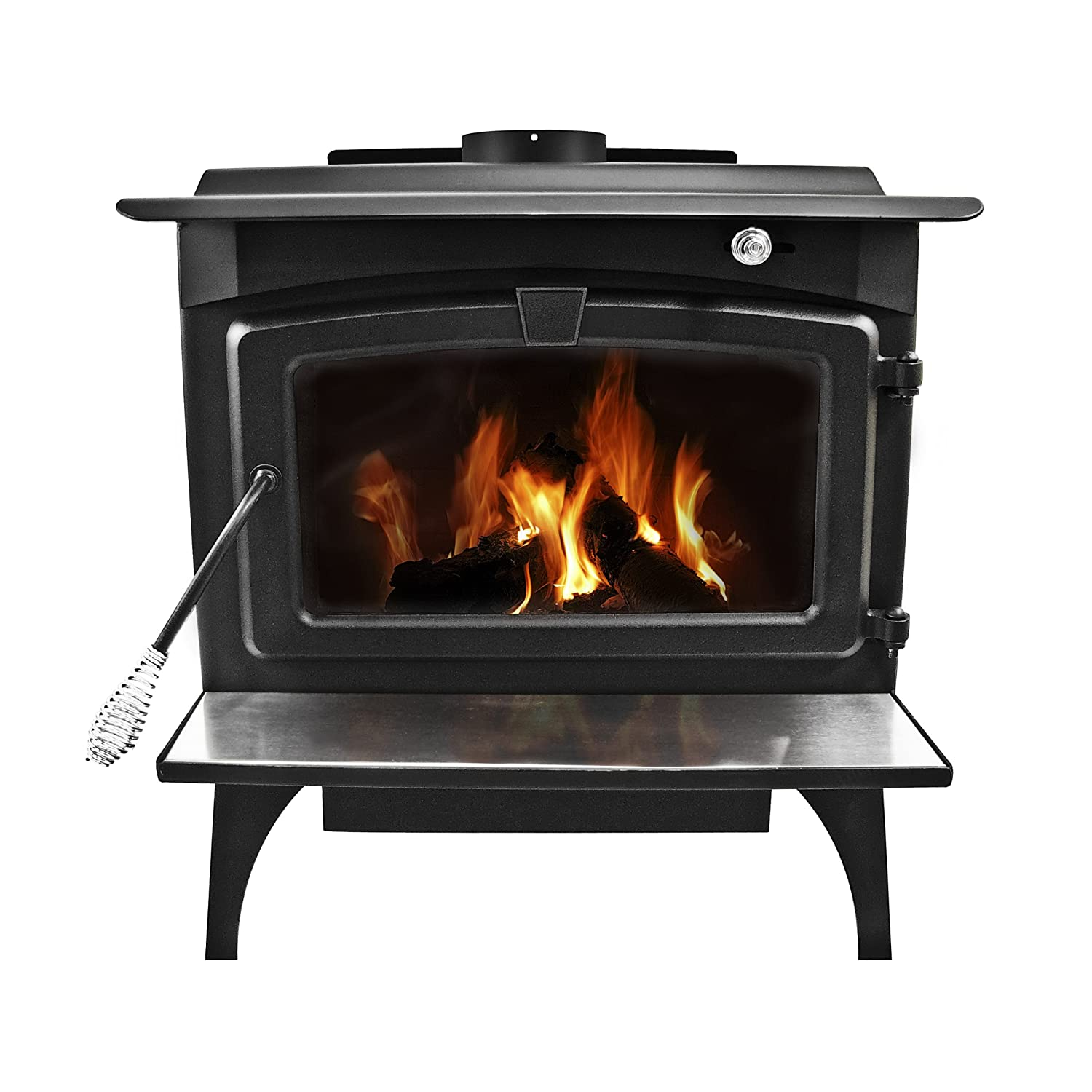 amazon com pleasant hearth 1 800 square feet wood burning stove