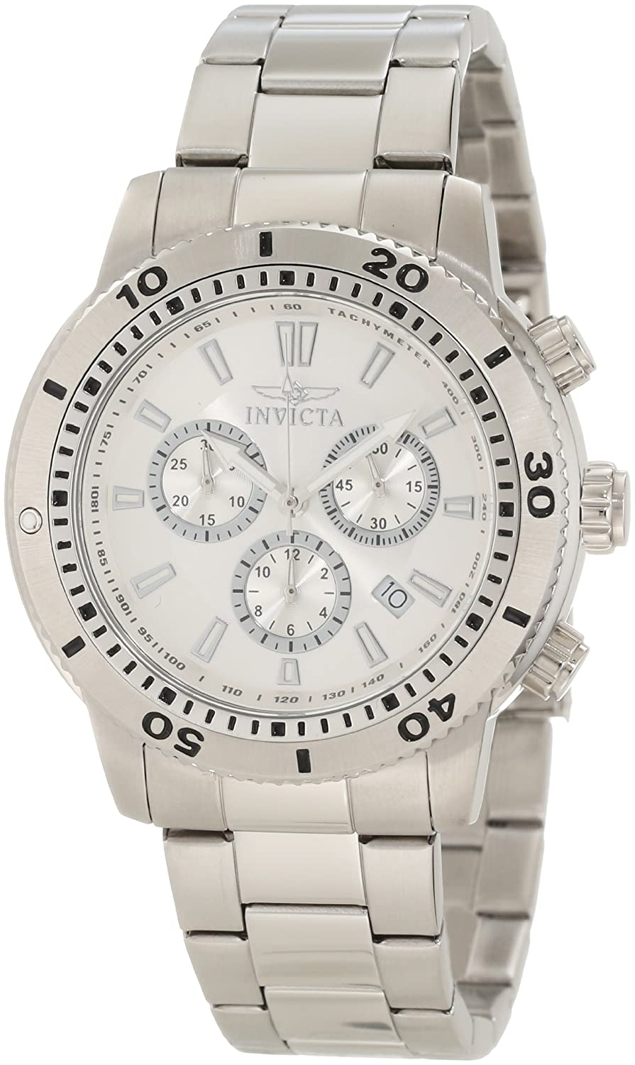Invicta Men s 10358 Specialty Chronograph Silver Dial Watch
