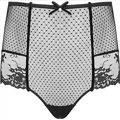 015b8b14a45 Amazing Sexy Panties Women High Waist Panty Sexy Briefs Ladies Plus Size  Underwear Transparent Sheer Lace
