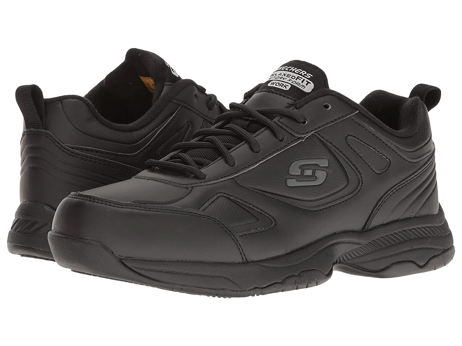(スケッチャーズ) SKECHERS レディースワークシューズナースシューズ靴 Dighton Bricelyn [並行輸入品] B07FRY5WLB 5.5 (22.5cm) C Wide|Black Synthetic/Leather Black Synthetic/Leather 5.5 (22.5cm) C Wide