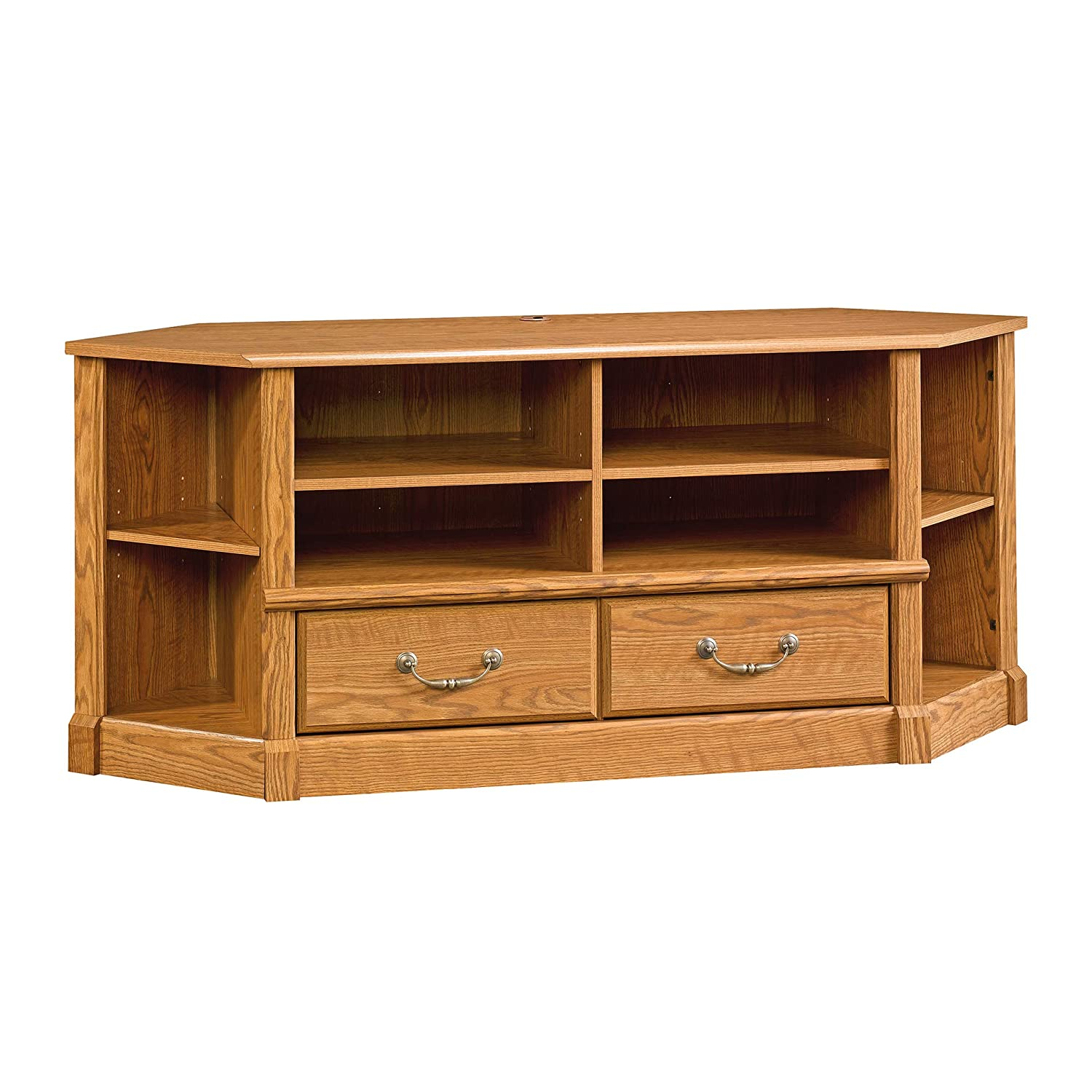Sauder Orchard Hills Corner Entertainment Credenza, For TV s up to 50 , Carolina Oak finish