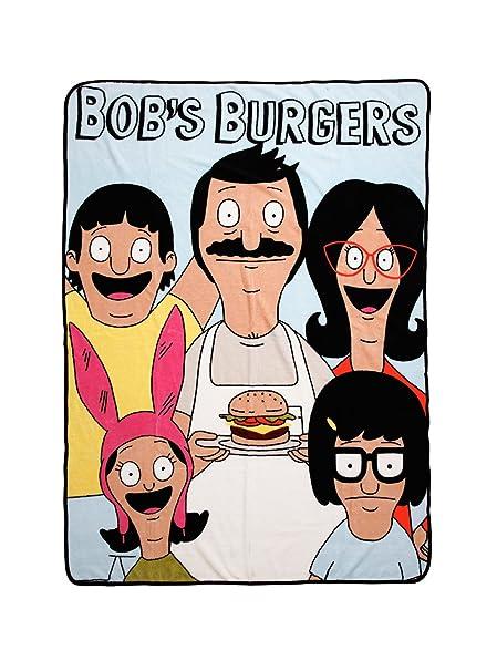 amazon com bob s burgers belcher family throw blanket 45 x 60