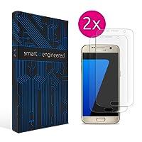 Galaxy S7 Schutzfolie [2 Stück] Panzerfolie volle Abdeckung [HD-Klar] einfache blasenfreie Aufbringung [Displayschutzfolie transparent] KEIN Glas Schutzglas Glasfolie sondern Samsung S7 Folie