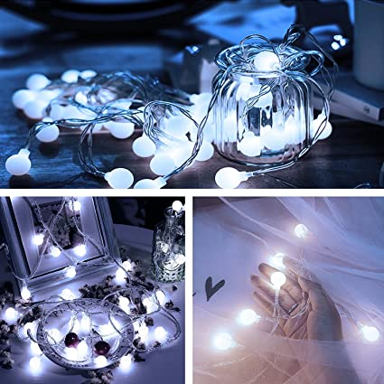 100 led globe string lights ball string fairy lighting indoor outdoor decorative light