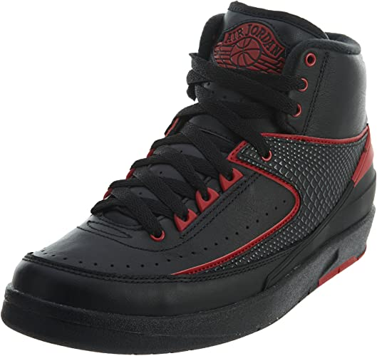 última colección venta outlet forma elegante Amazon.com | Nike Jordan Mens Air Jordan 2 Retro Black/Varsity Red ...