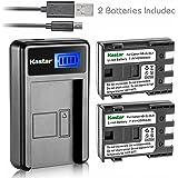 Kastar Battery (X2) & LCD Slim USB Charger for Canon NB-2L, NB-2LH, NB2L, NB2LH and G9, Rebel XTi, G7, Rebel XT, HV-20, ZR-850, S30, HV-40, S330, S50, HV-10, ZR100, ZR-830, ZR-700 Digital Cameras