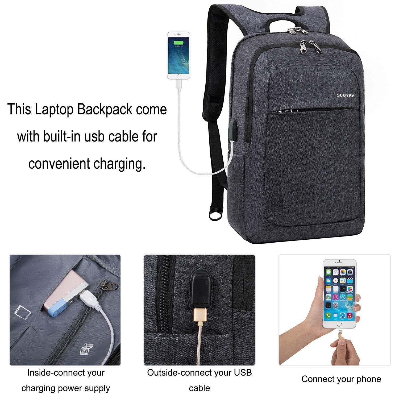 f825598a03631 Laptoprucksack USB-Ladeanschluss Business15.6 Zoll Slim  Amazon.de   Computer   Zubehör