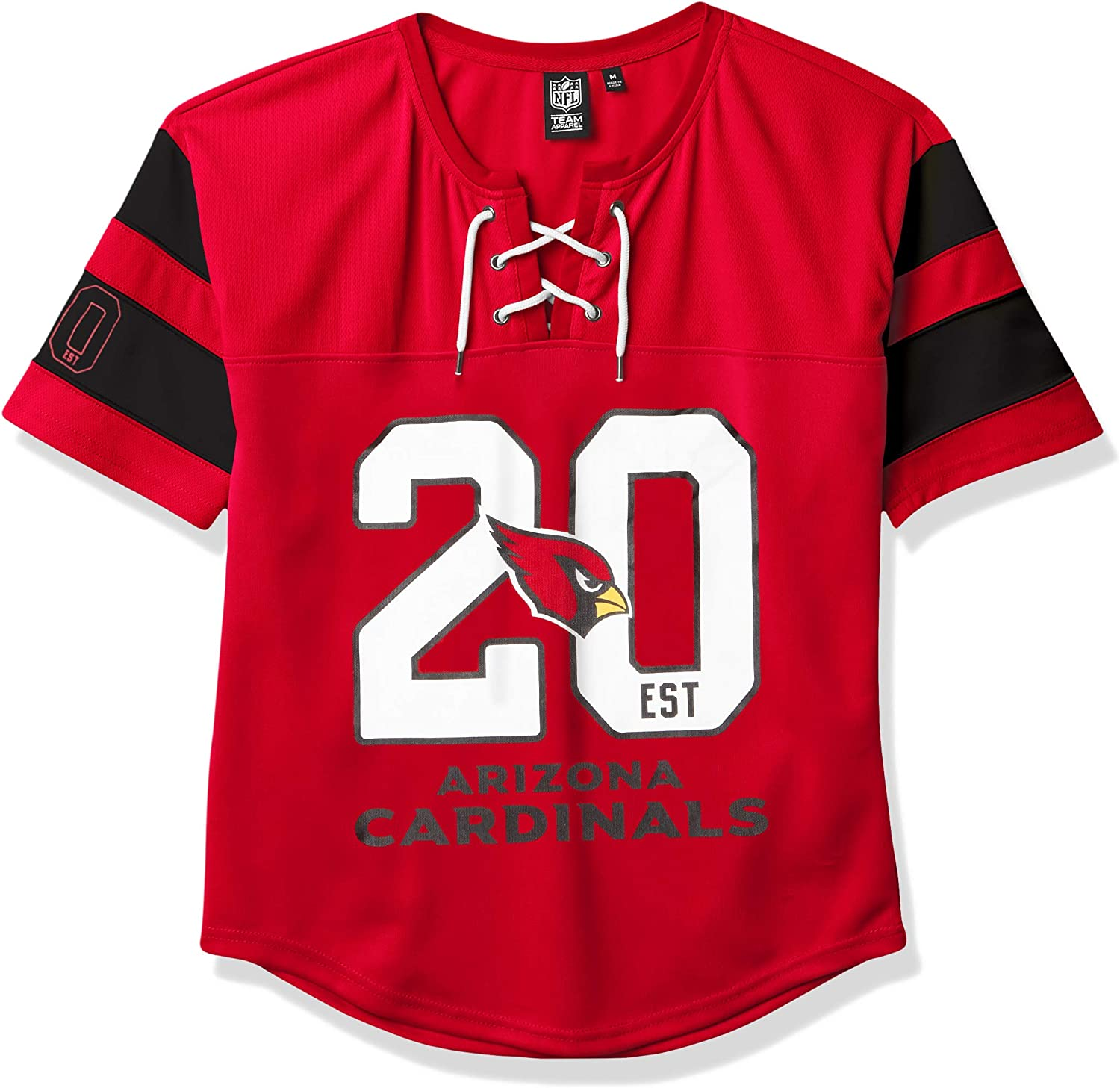 Ultra Game NFL Arizona Cardinals Womenss Penalty Box Jersey, Team Color, X-Large