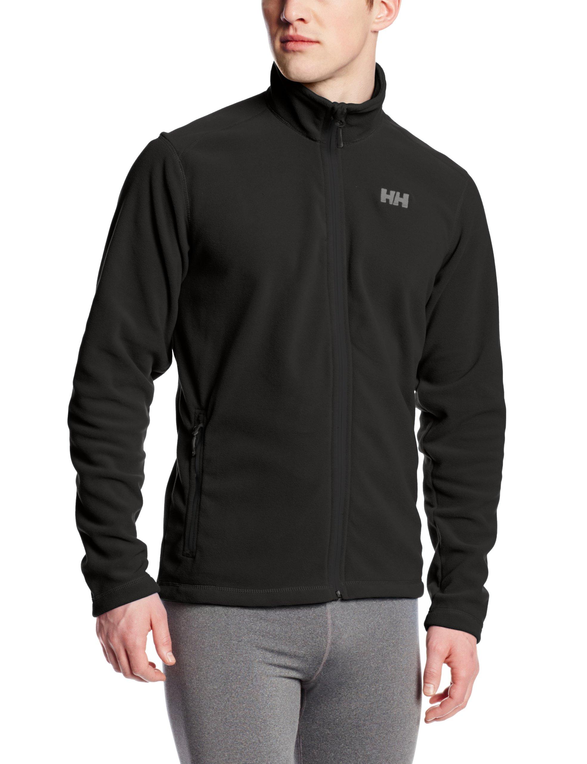 Helly Hansen Men's Daybreaker Lightweight Full Zip Fleece Jacket, 990 Black, Large