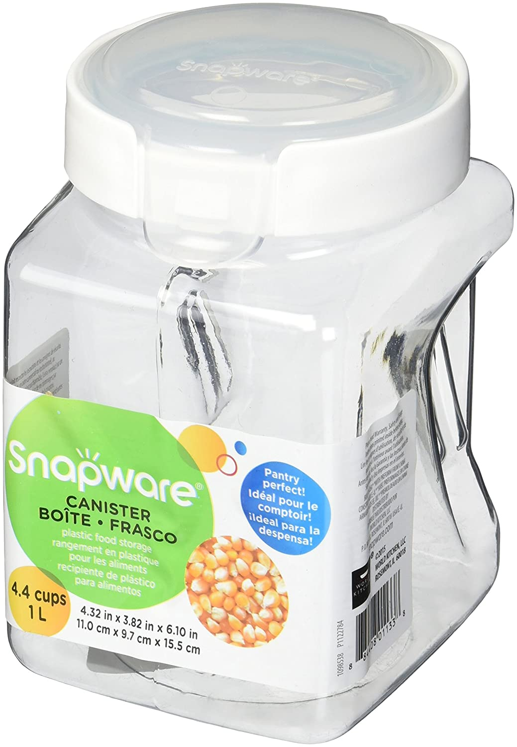 Snapware 1022 1-litre Square-Grip Canister