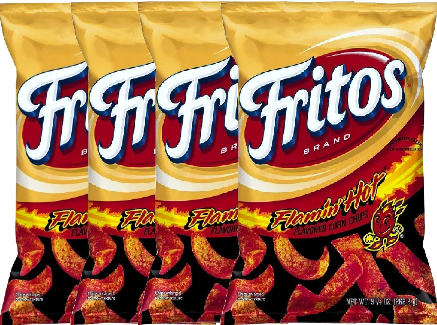 NEW Fritos Flamin Hot Flavored Corn Chips - 9.25oz (4)