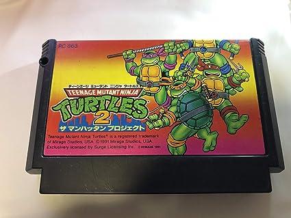 Amazon.com: Teenage Mutant Ninja Turtles 2 FC NES Famicom ...