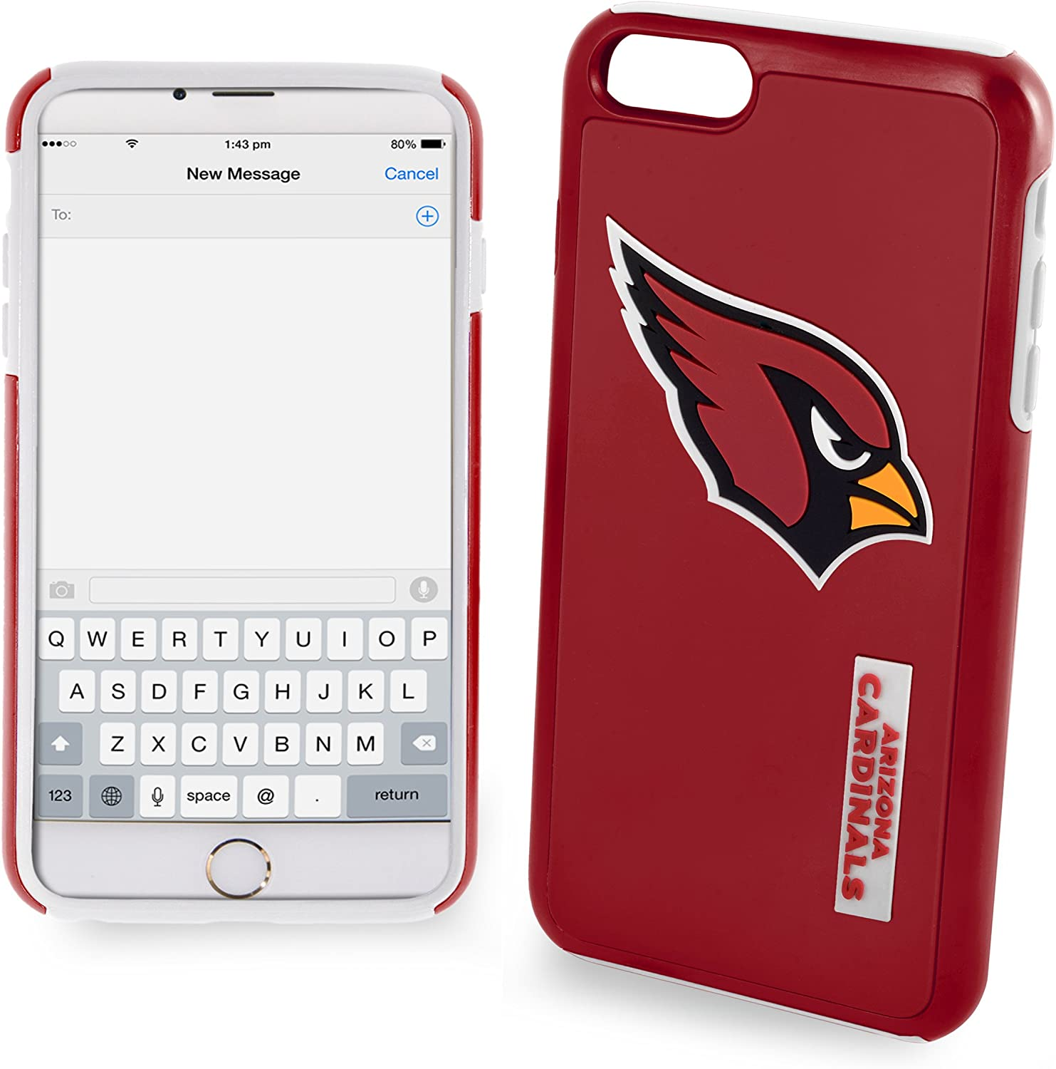FOCO NFL Iphone 6/6S Two-Piece Tpu Dual Hybrid Case