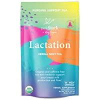 Pink Stork Lactation Tea: Herbal Mint Nursing Tea, USDA Organic, Improve Breast...