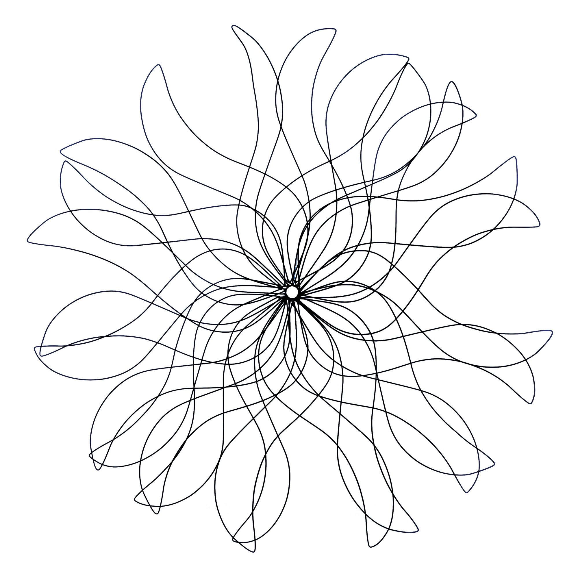 3-Foot Metal Flower Wall Decor by Accent Plus