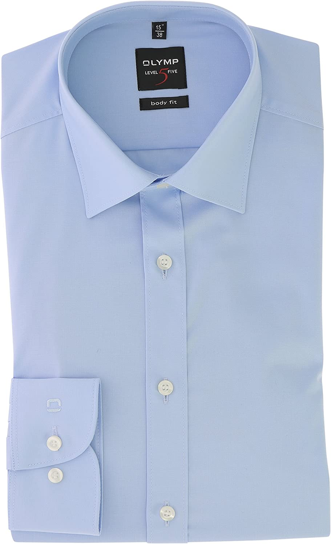 OLYMP Level Five body fit Hemd extra langer Arm Stretch hellblau AL 69