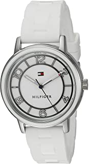 Tommy Hilfiger Womens Quartz Stainless Steel and Silicone Casual Watch, Color White (Model: