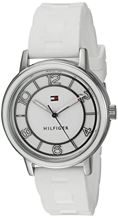 d061ff55 Image Unavailable. Image not available for. Color: Tommy Hilfiger Women's  Quartz Stainless Steel and Silicone Casual Watch ...