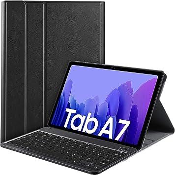 IVSO Teclado Compatible con Samsung Galaxy Tab A7(QWERTY US), Compatible con Samsung Galaxy Tab A7 2020 Teclado, Funda con Wireless Teclado para ...