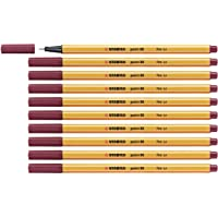 STABILO Point 88 Fineliner Pen - Assorted Colours (Pack of 25) Pack of 10