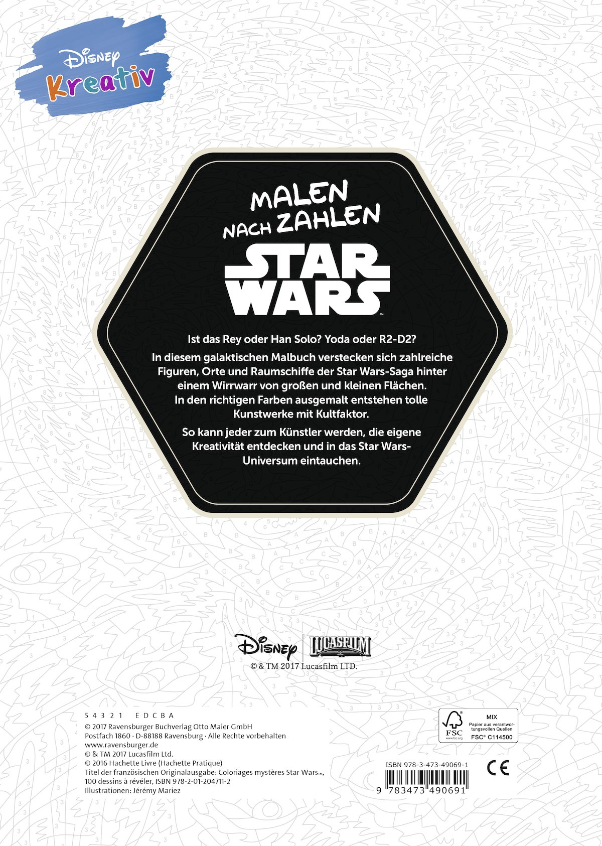 Disney kreativ: Star Wars(TM) Malen nach Zahlen: 9783473490691 ...