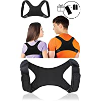 SETH - Posture Corrector for Men and Women - Comfortable Upper Back Brace Clavicle Support Device for Thoracic Kyphosis and Shoulder - Neck Pain Relief - Posture Brace - Effective Adjustable Posture Correct Brace - Posture Support - Kyphosis Brace FDA Approved