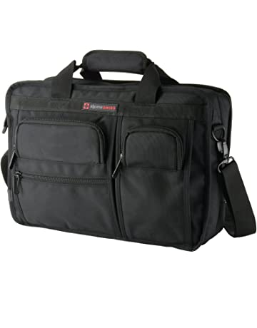 3ae5ca25875 Alpine Swiss Conrad Messenger Bag 15.6 Inch Laptop Briefcase with Tablet  Sleeve