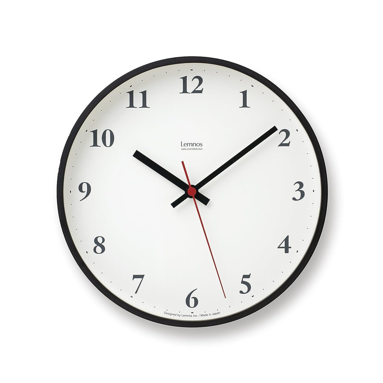 Lemnos Plywood clock 電波時計 ブラウン LC10-21W BW B004UIT8FG 直径約25cm|ブラウン ブラウン 直径約25cm