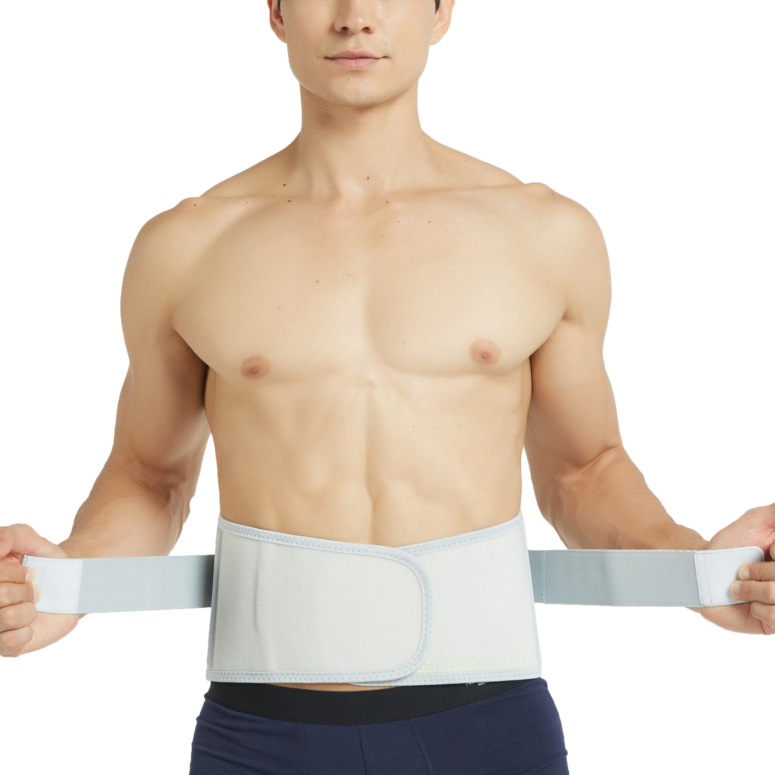 Neotech Care Back Brace - Breathable & Adjustable Support for Lower Back Pain - Double Pulley Compression Straps Lumbar Belt Corset - Grey - Size S