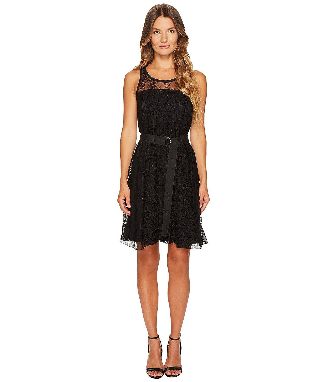 [スポーツマックス] Sportmax レディース Assiro Lace Printed Jersey Dress ドレス [並行輸入品] B074Z3PGG5 XL|ブラック ブラック XL