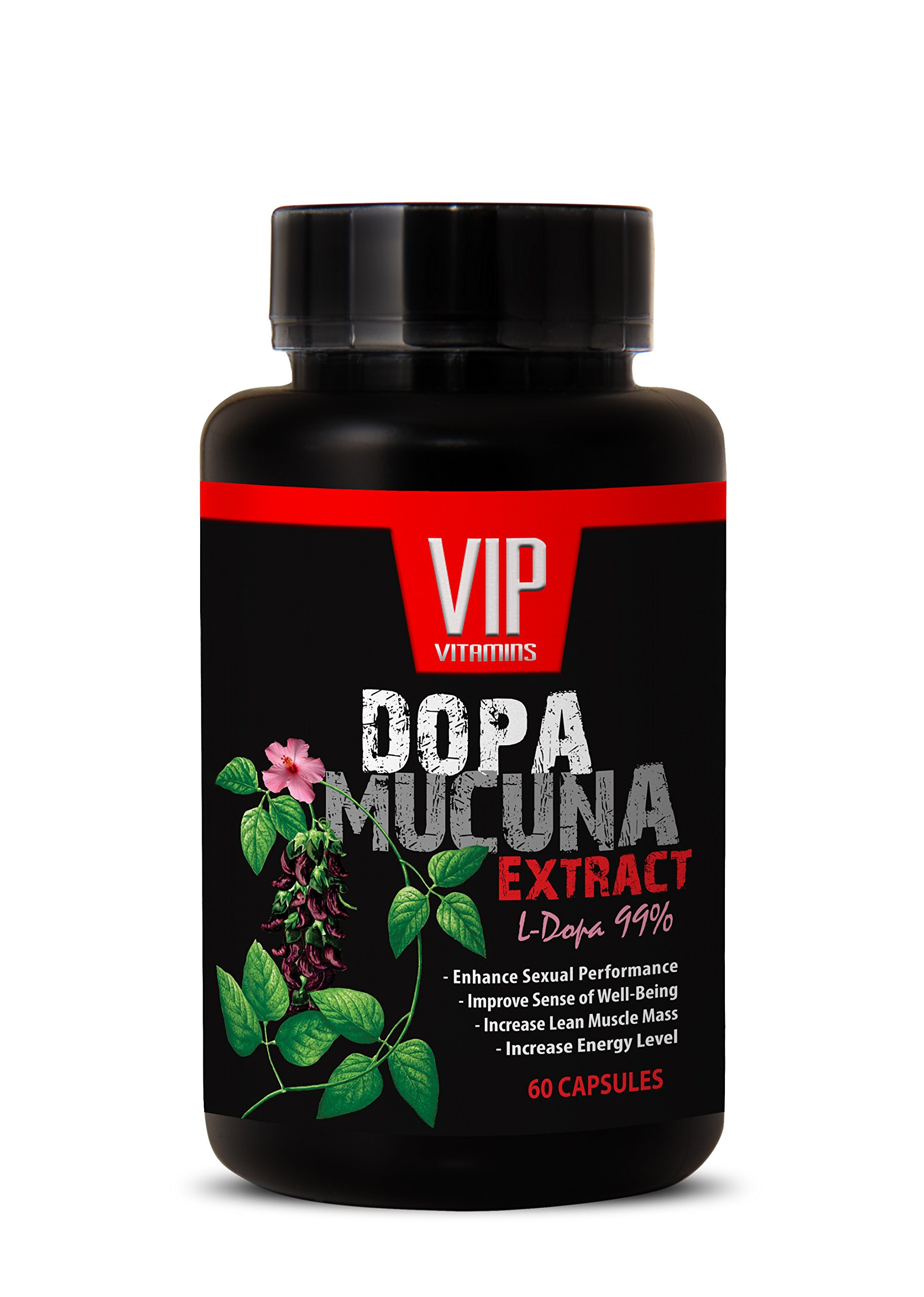 Sexual enhancement pills for men - DOPA MUCUNA EXTRACT (L-DOPA 99%) - Pure mucuna pruriens - 1 Bottle 60 Capsules by VIP VITAMINS (Image #1)
