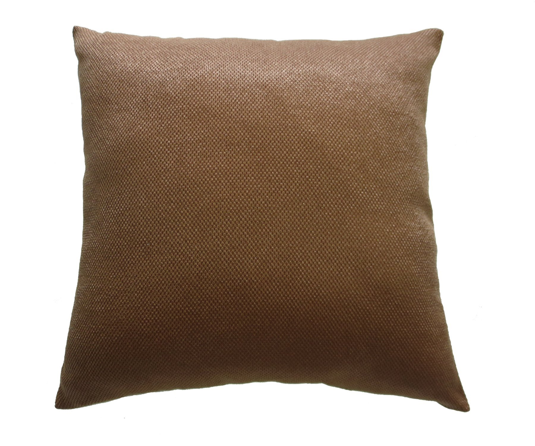 Violet Linen Luxurious Chenille Abstract Collection Decorative Throw Pillow, 18'' x 18'', Brown