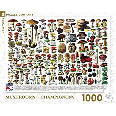 New York Puzzle Company - Mushrooms ~ Champignons - 1000 Piece Jigsaw Puzzle: Toys & Games
