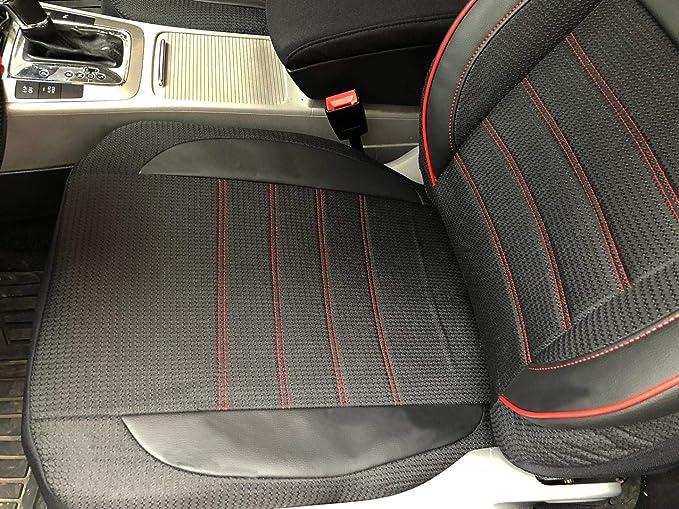 Seatcovers By K Maniac V2412341 Sitzbezüge Für Fiat Tipo Kombi Universal Schwarz Rot Autositzbezüge Set Vordersitze Autozubehör Innenraum Auto Zubehör Auto