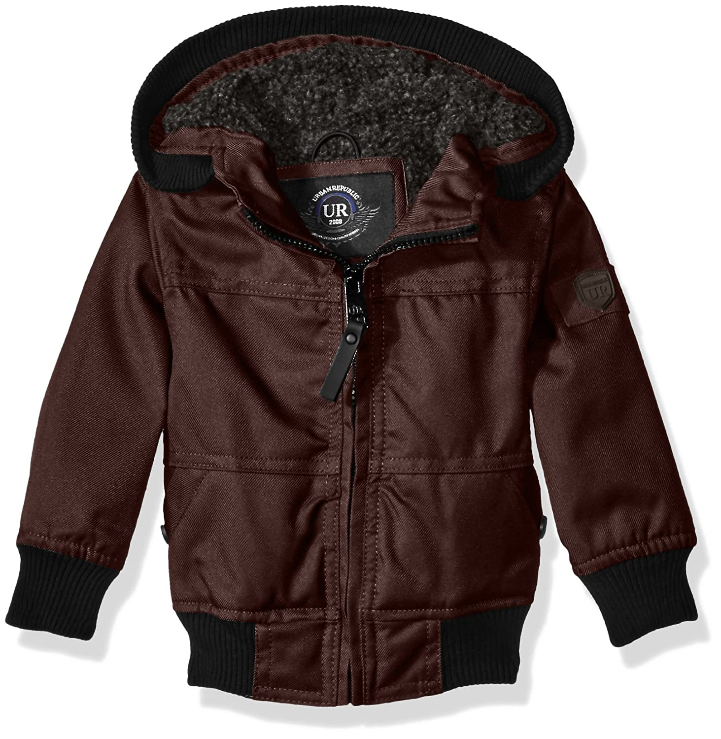 Urban Republic Baby Boys' Infant Basllistic Bomber Jacket With Sherpa Lining Charcoal 18 Months 6542IC-125