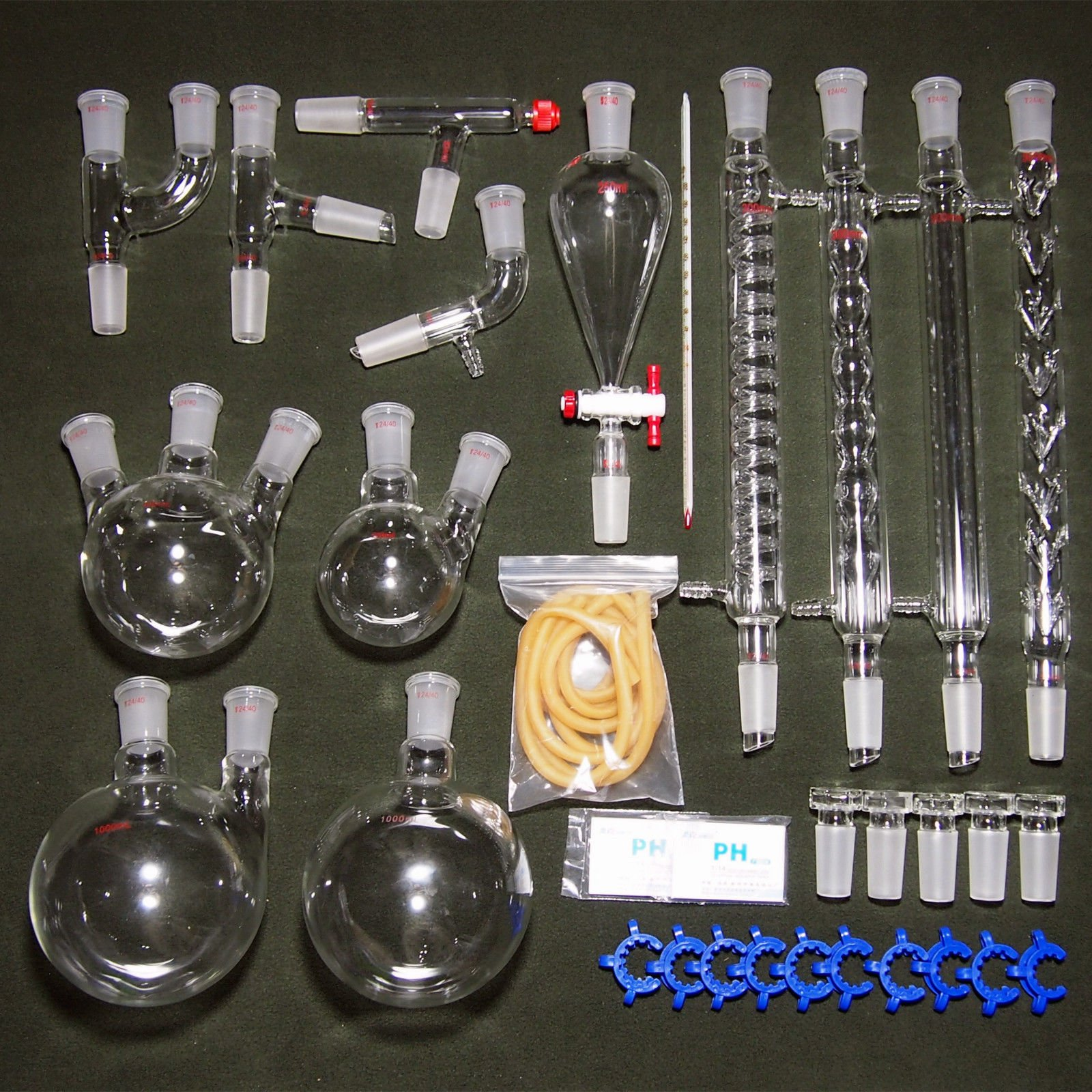 24/40,New Organic Laboratory Glassware Kit,32 PCS,Lab Unit by Deschem
