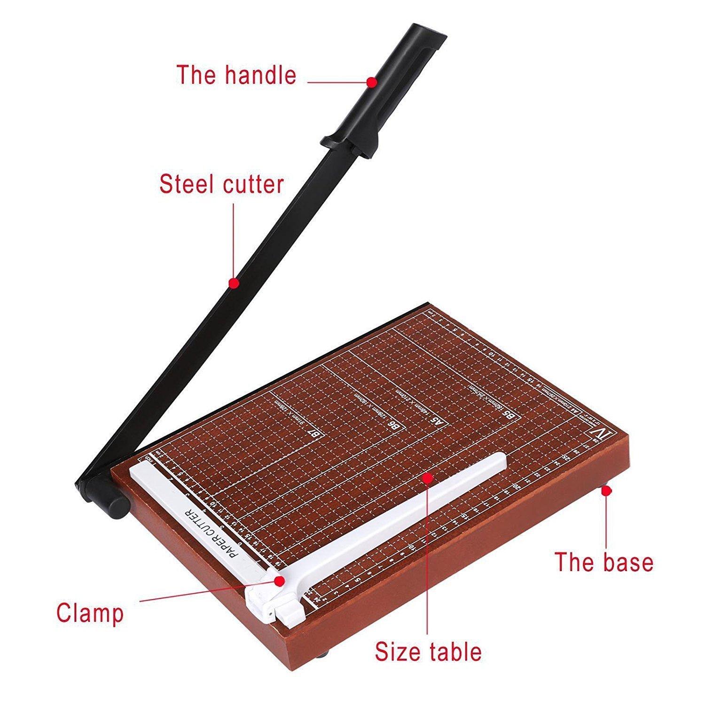 Evokem Tissue Paper Trimmer/Cutter,A4, B5, A5, B6, B7 Paper Cutter Guillotine,Wood Board by Evokem (Image #3)