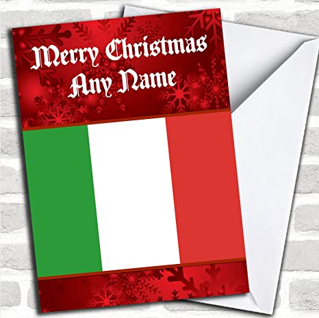 Bandiera Italiana Italia Biglietto Di Natale Amazon It Cancelleria