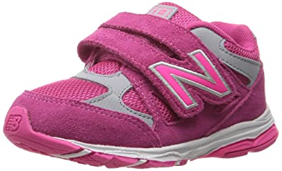 d3b79a4b81 New Balance Kid's KV888 Running Shoe, Pink/Grey, 2 Wide US Infant