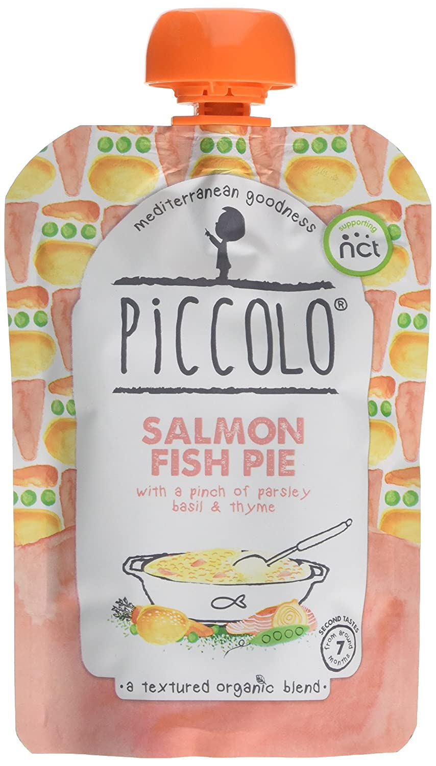 Piccolo Stage 2 Salmon Fish Pie Puree, 130 g, Pack of 7 PIC6005