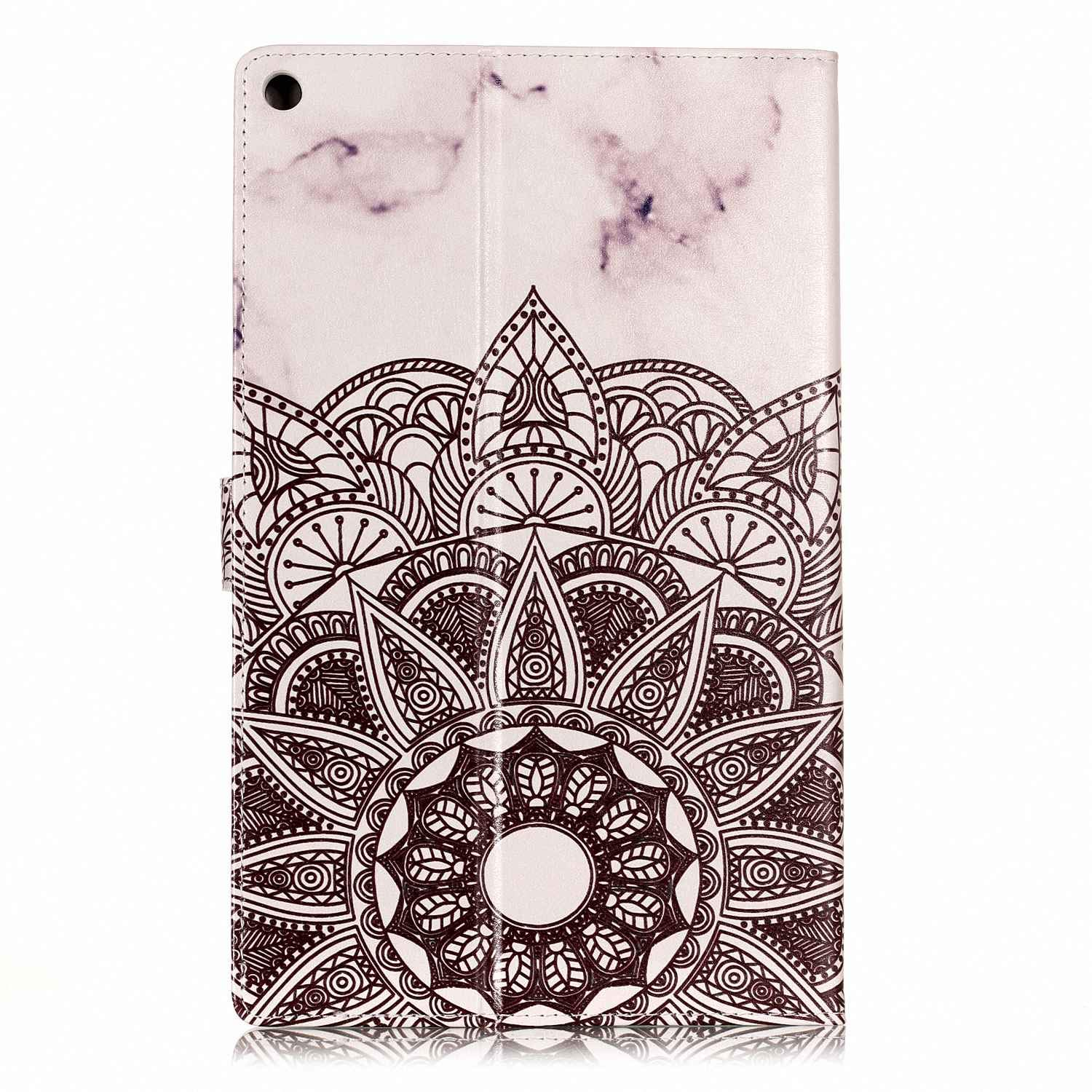 Rose Gold White Marble HD 10 Case Premium PU Leather Ultra Slim Smart Stand Cover with Auto Wake//Sleep for All-New  Fire HD 10 Tablet 7th Generation 2017 // 5th Generation 2015