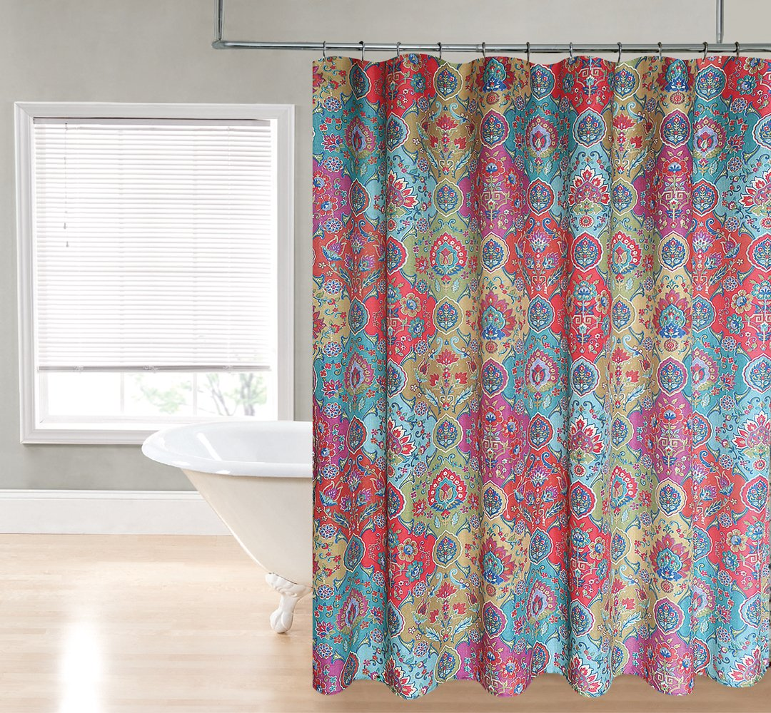 Marrakech Printed 70-Inch Wide X72-Inch Long Fabric Shower Curtain_Multi