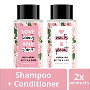 Love Beauty And Planet Rose Shampoo and Conditioner