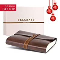 Tivoli A5 Journal Intime/Carnet de Notes en cuir recyclé de fabrication artisanale Italienne, Cadeau Spécial, Journal de Voyage, Notebook A5 (15x21 cm) Brun