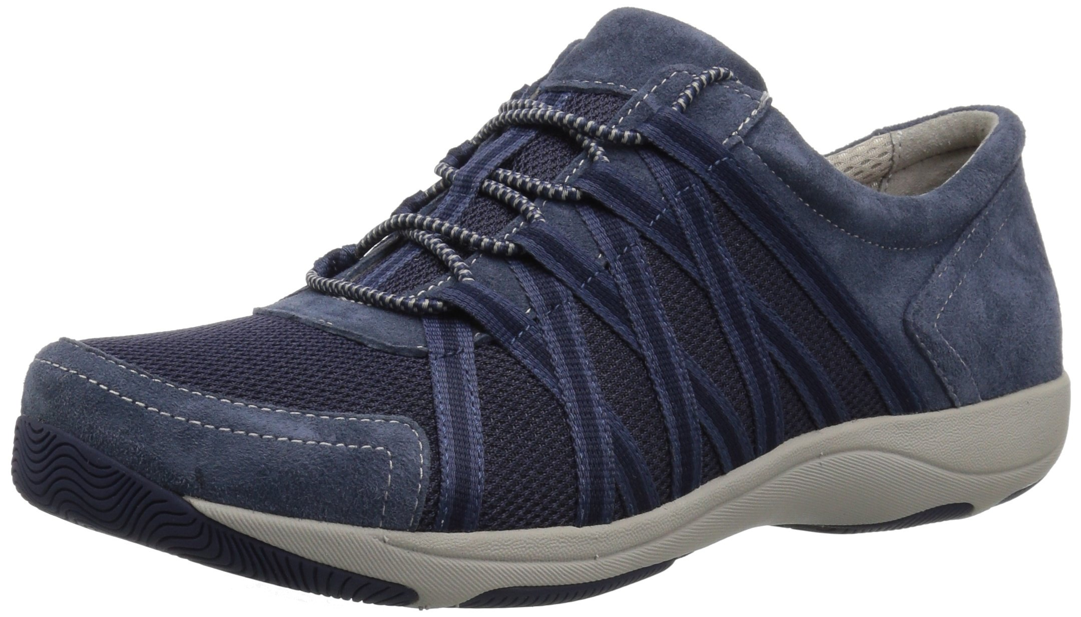 Dansko Women's Honor Sneaker, Blue Suede, 39 Wide EU (8.5-9 US)