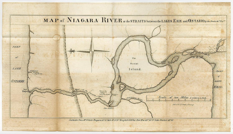 Amazon Com Antique Print Niagara Lake Erie Ontario Falls