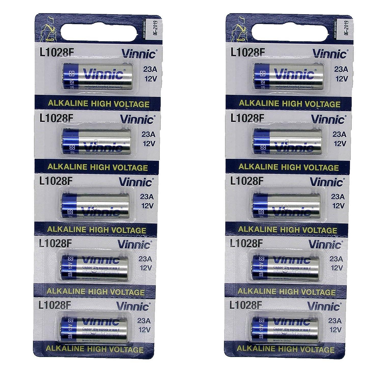 10x Pila Alcalina Pilas 23A 12V L1028 MN21 A23 LRV08 LR23 Mando y Multiuso 2665: Amazon.es: Electrónica