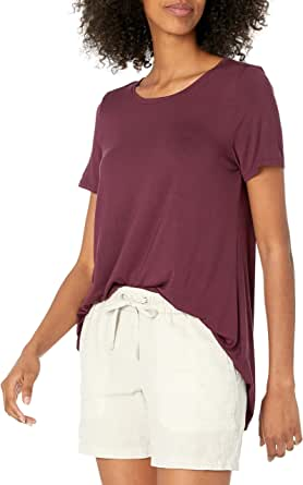 Amazon Essentials Patterned Short-Sleeve Scoopneck Swing tee Mujer